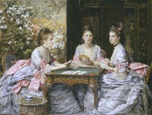Painting by the victorian Artist Sir John Everett Millais, called Hearts are Trumps