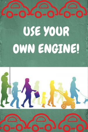 less sitting. Use your own engine!
