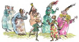 Cartoon image of the Emperor's New Clothes by Quentin Blake