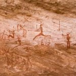 Cave Paintings from The Sahara Desert, around 12,000 years old