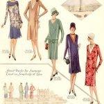 original drawings of 1920s dressmaking pattern designs