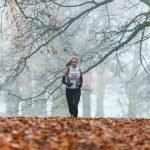 Female runner in Richmond Park, London